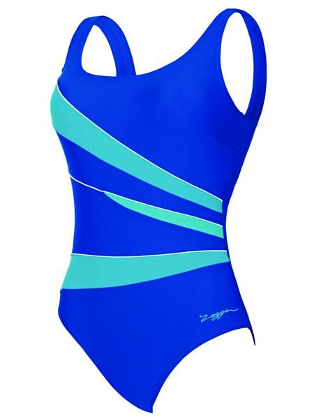 Zoggs Ladies Casuarina Scoopback Swimsuit - Noble Blue