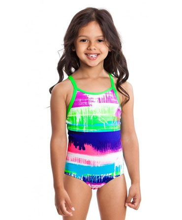 Funkita Toddler Girl Printed One Piece Colour Run