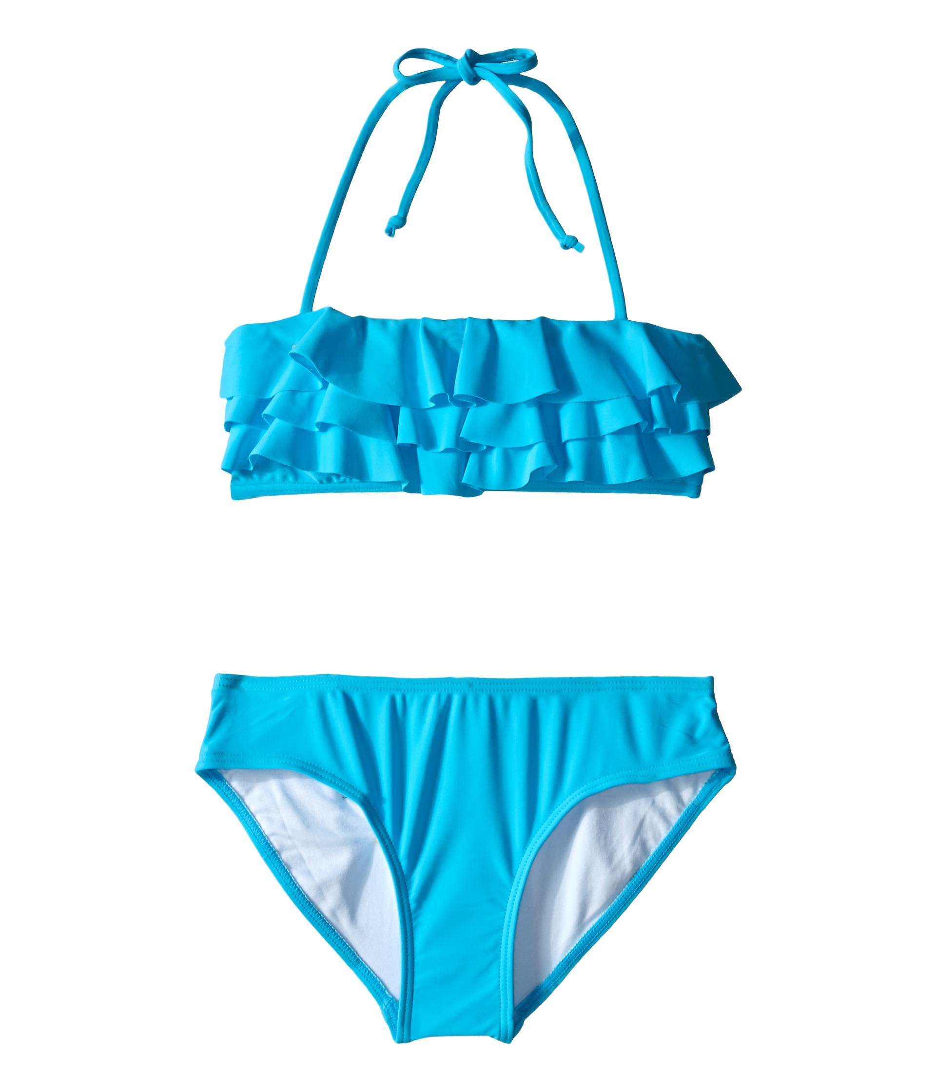 Seafolly Girls Summer Daze Mini Tube Bikini - blue