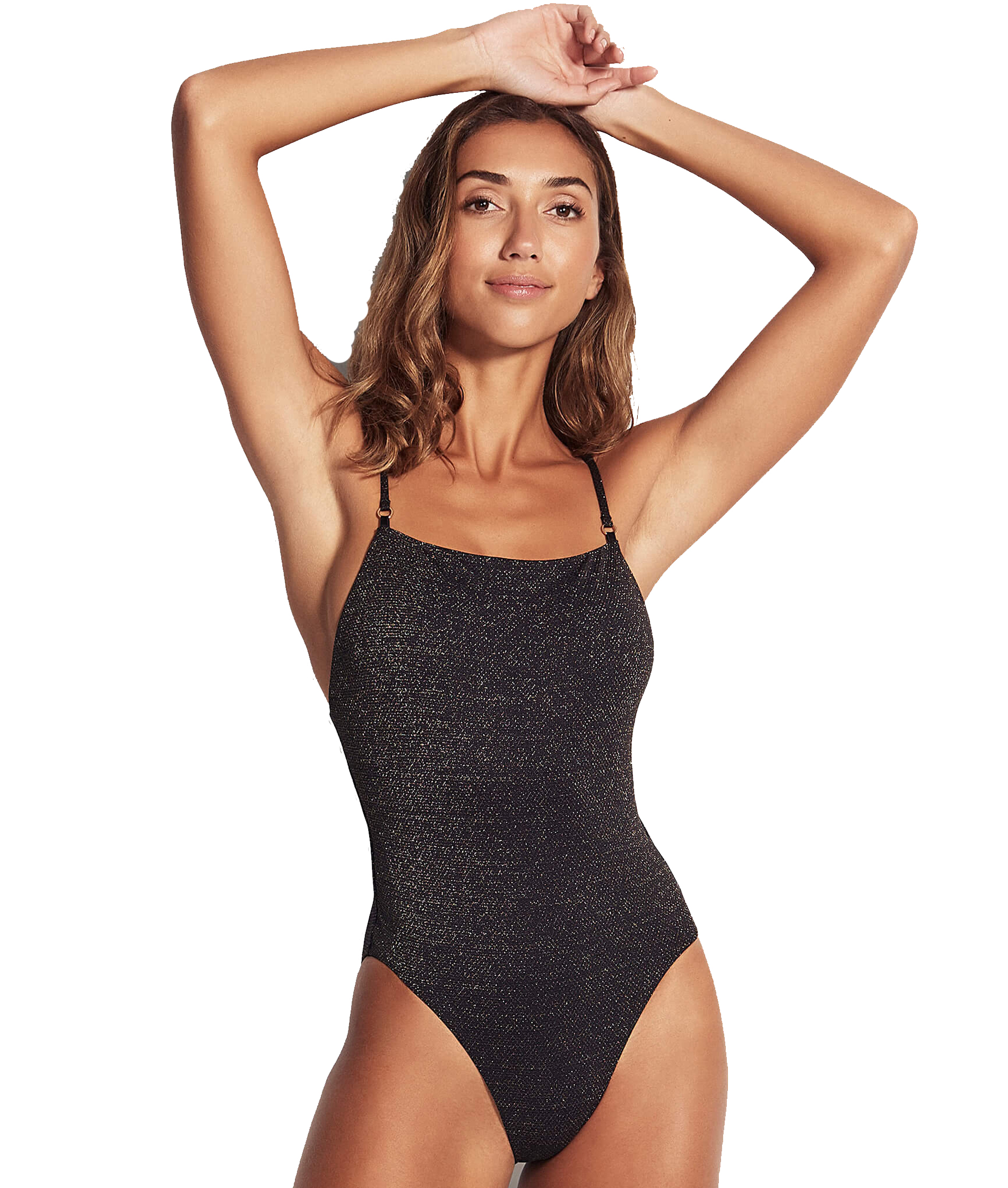 Seafolly Ladies Stardust Square Neck One Piece - Black