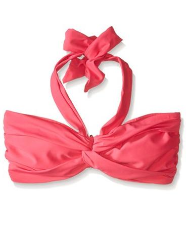 Seafolly DD U Tube Bandeau Bikini Top - Red Hot