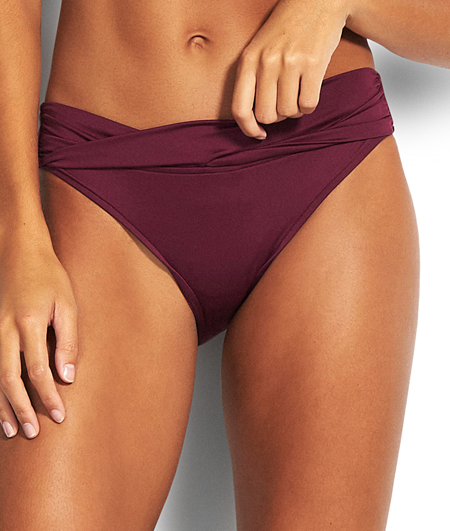 Seafolly Ladies Twist Band Hipster Bikini Pant - Boysenberry