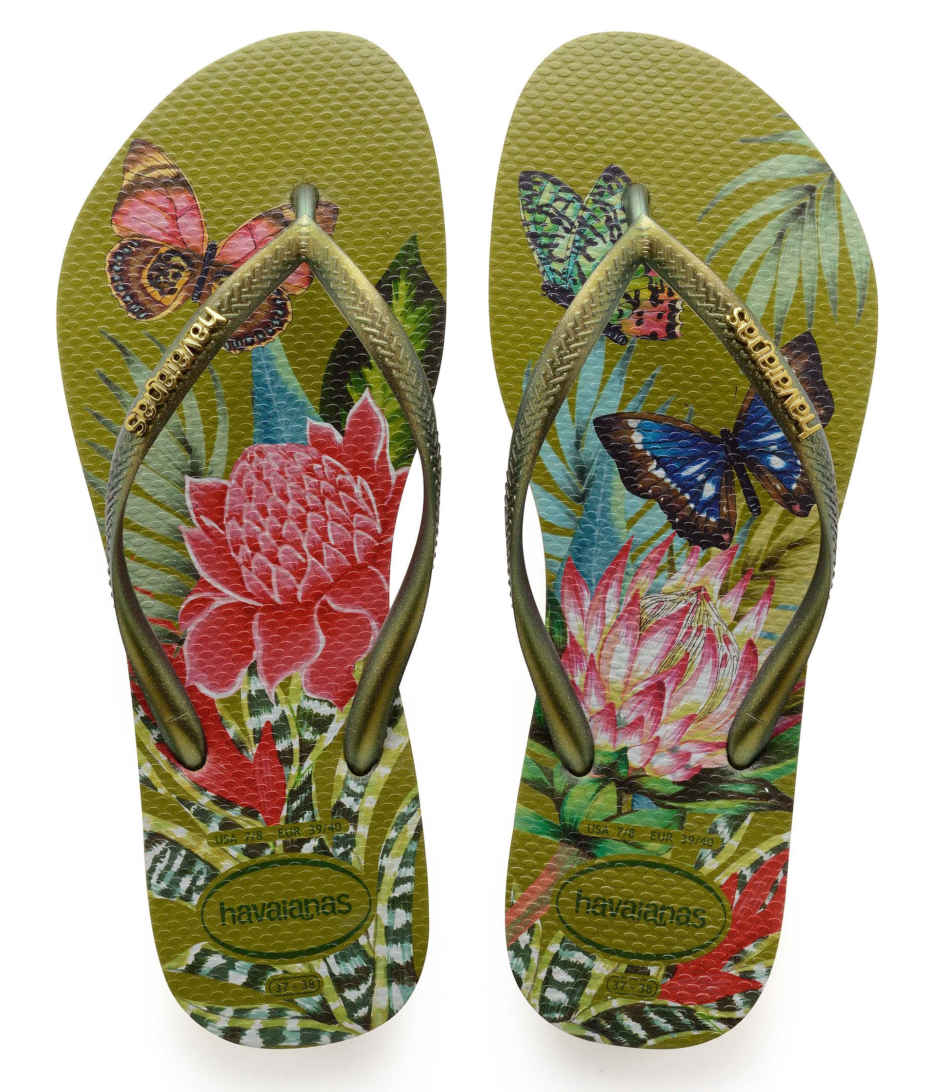 Havaianas Slim Tropical - Camo Green