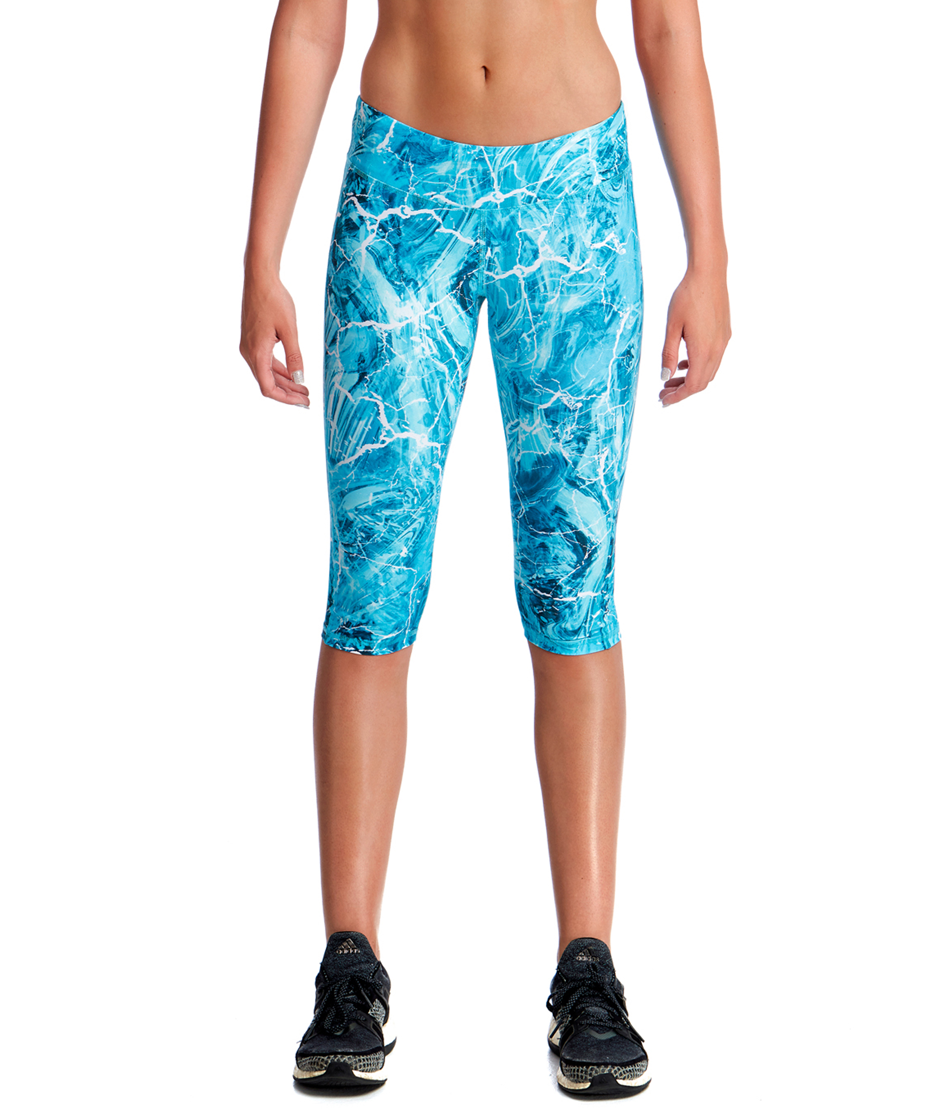 Funkita Fit Ladies Mint Marble Rapid Racer 3/4 Tight