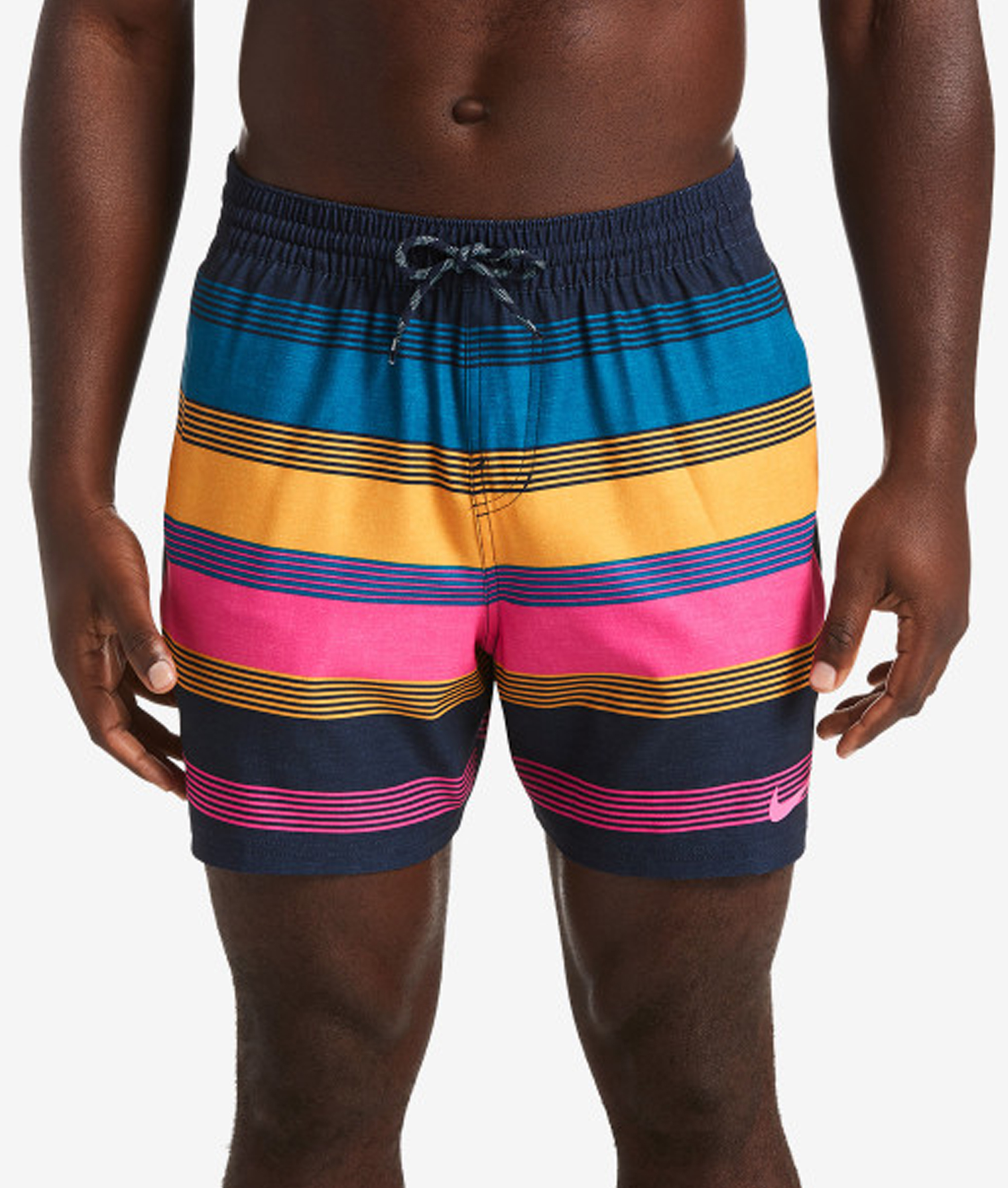 Nike Swim Linen Racer 5 Volley Short - Green Abyss