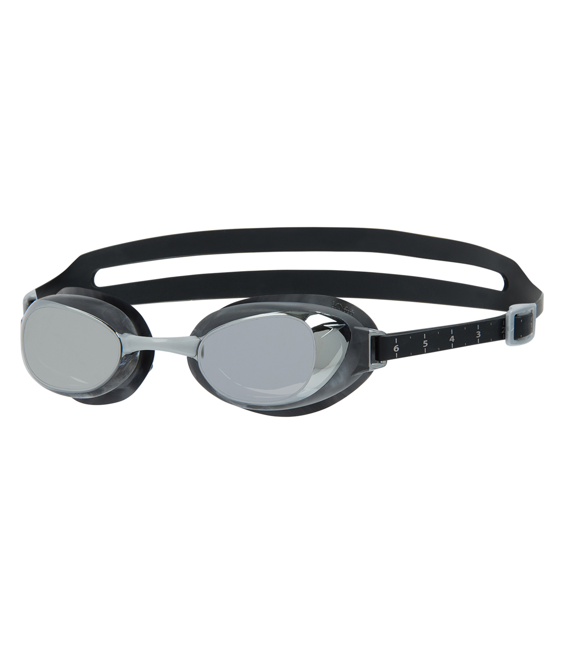 Speedo Aquapure Mirror Goggle - Black/Silver