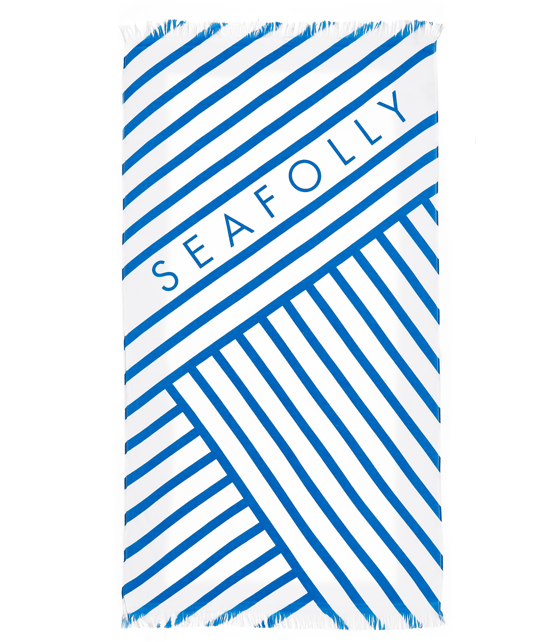 Seafolly Angled Stripe Beach Towel - Electric Blue
