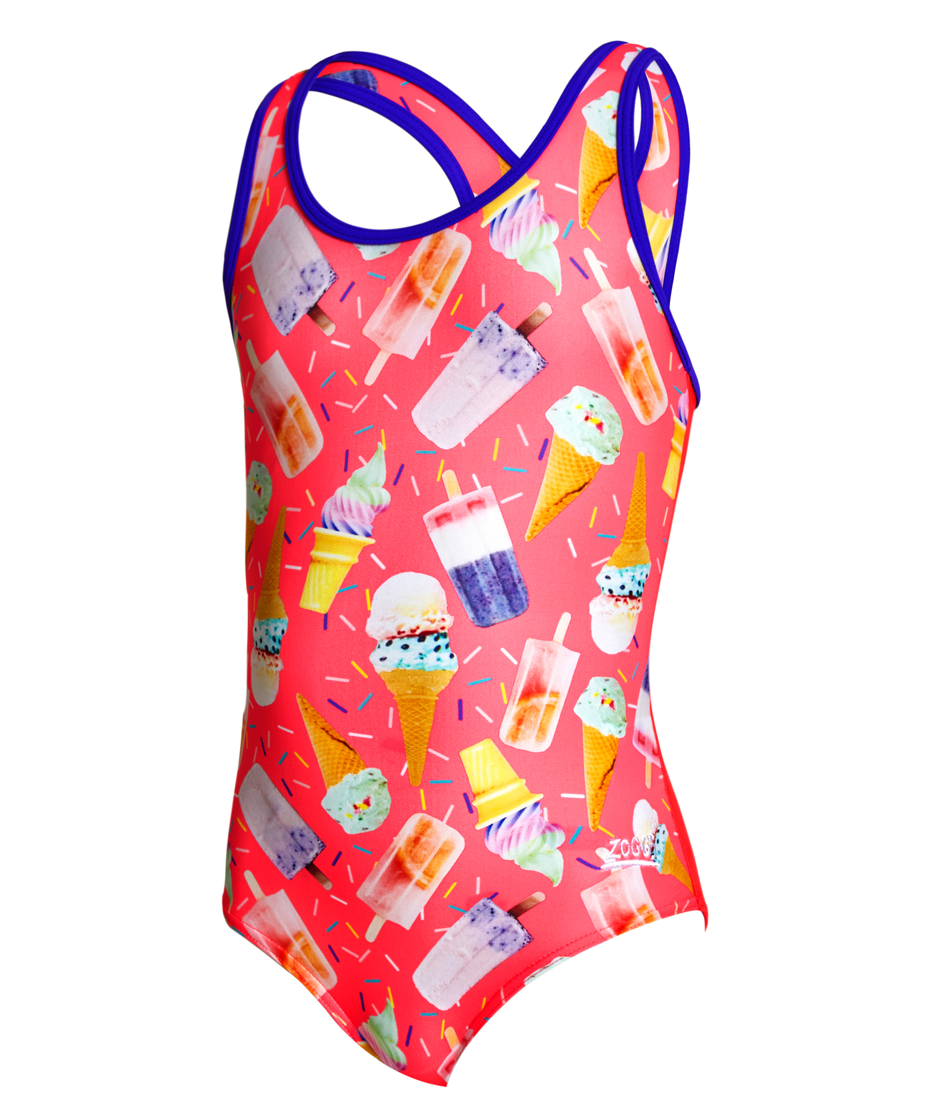 Zoggs Girls Ice Dream Actionback Swimsuit