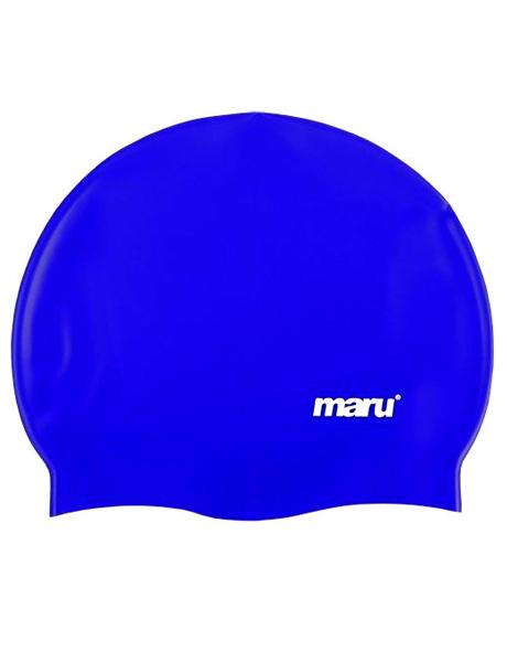 Maru Solid Silicone Swim Cap - Indigo