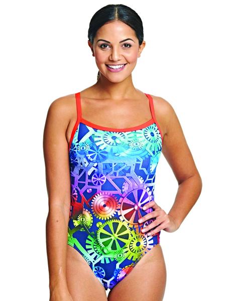 Zoggs Ladies Machina Aquaback Swimsuit