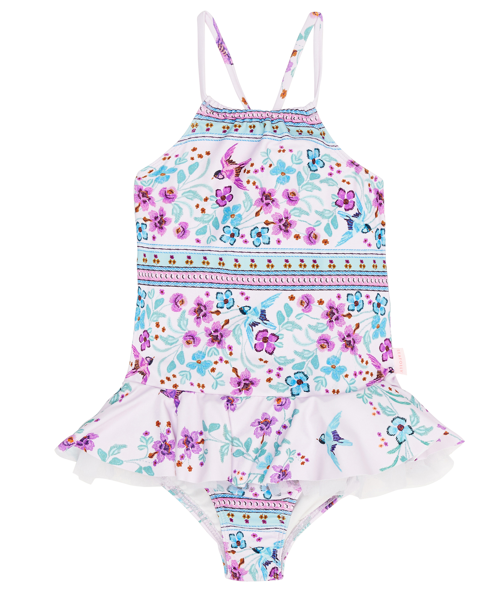 Seafolly Kids Folkloria Apron Tank One Piece