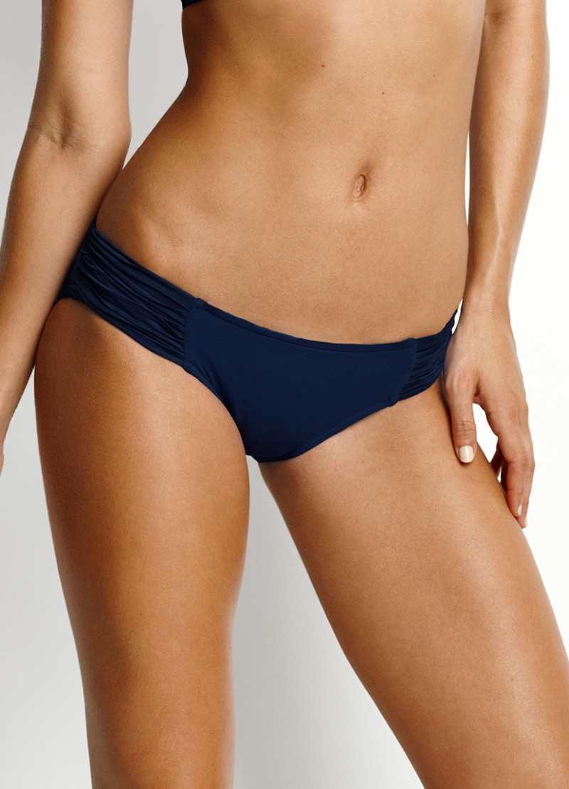 Seafolly Pleated Hipster Bikini Pant - Indigo