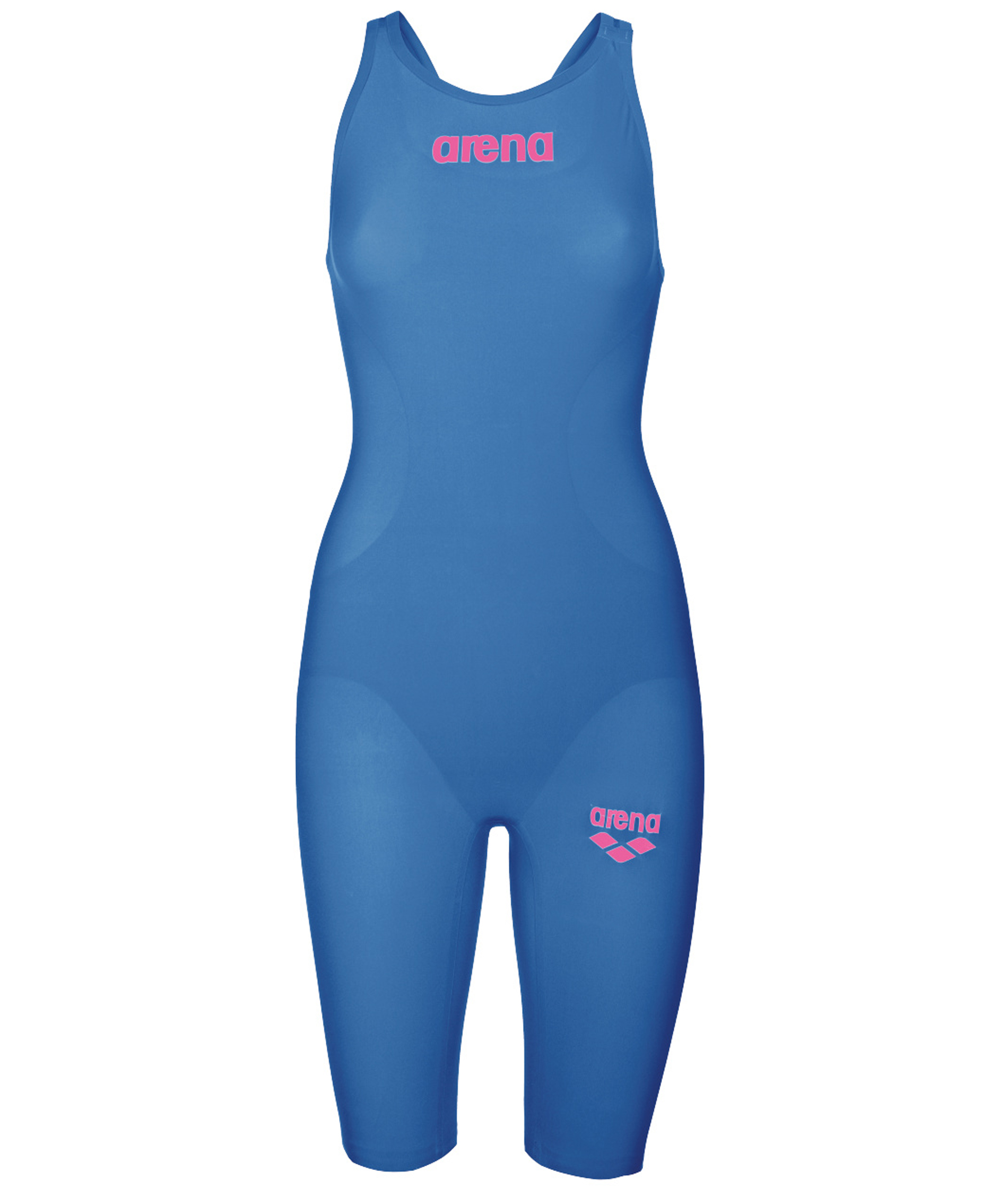 Arena Girls Powerskin R-EVO ONE Open Back Race Suit - Blue/Pink