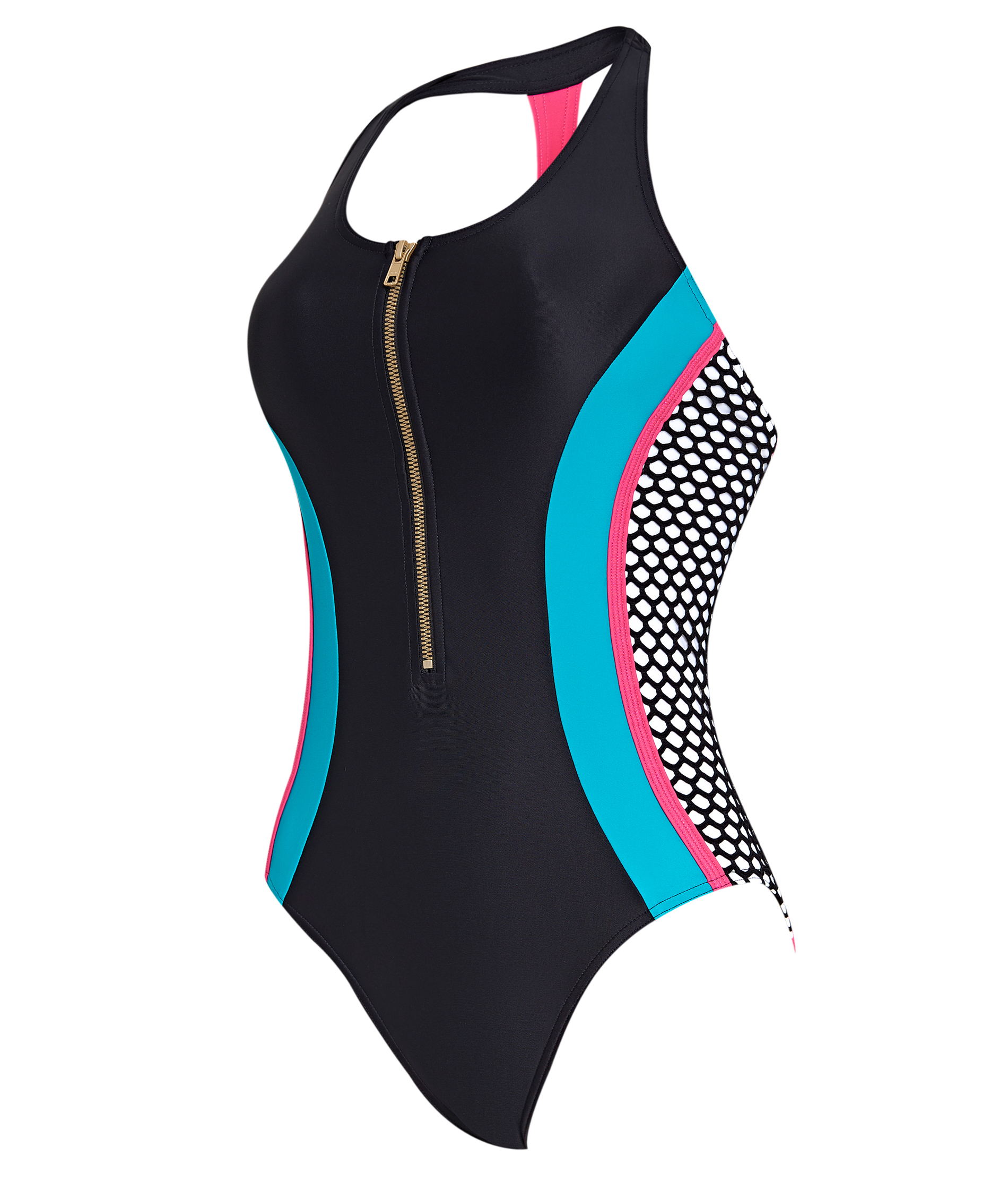 Zoggs Ladies Elevation Zip Front Swimsuit