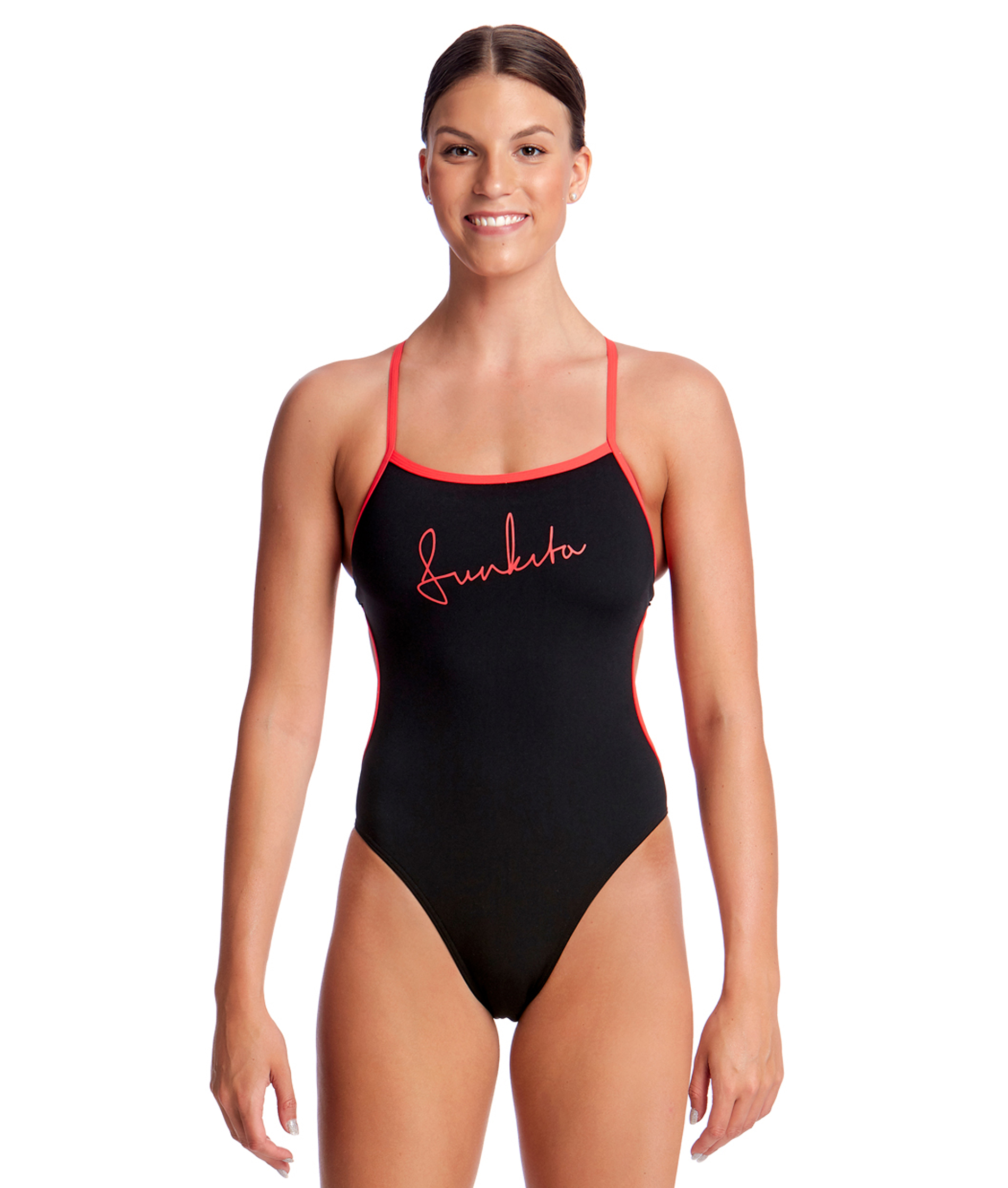 Funkita Ladies Black Cherry Cut Away One Piece