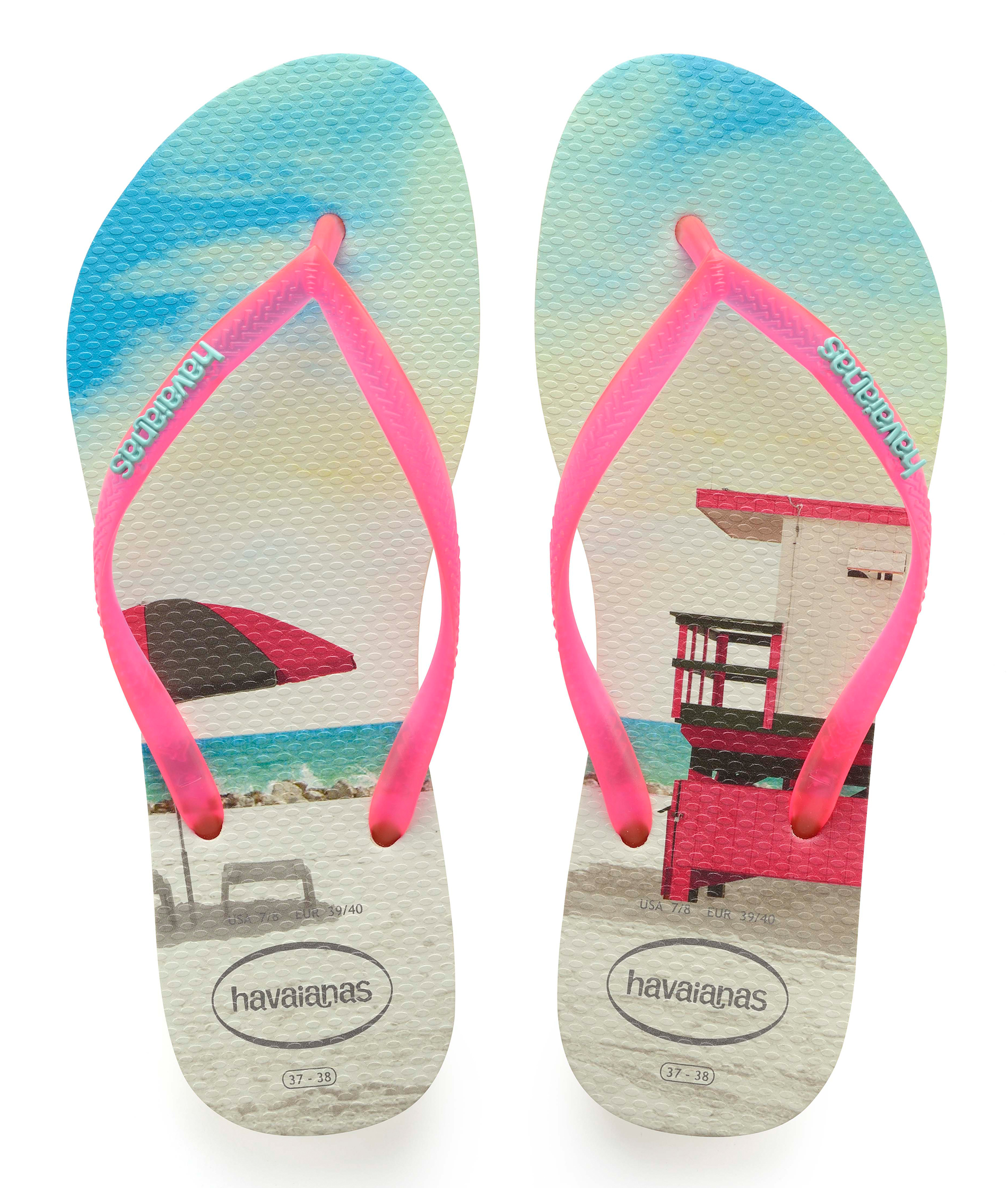 Havaianas Slim Paisage - Apple Green