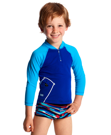 Funky Trunks Toddler Boys Bear Grills Zippy Rash Vest