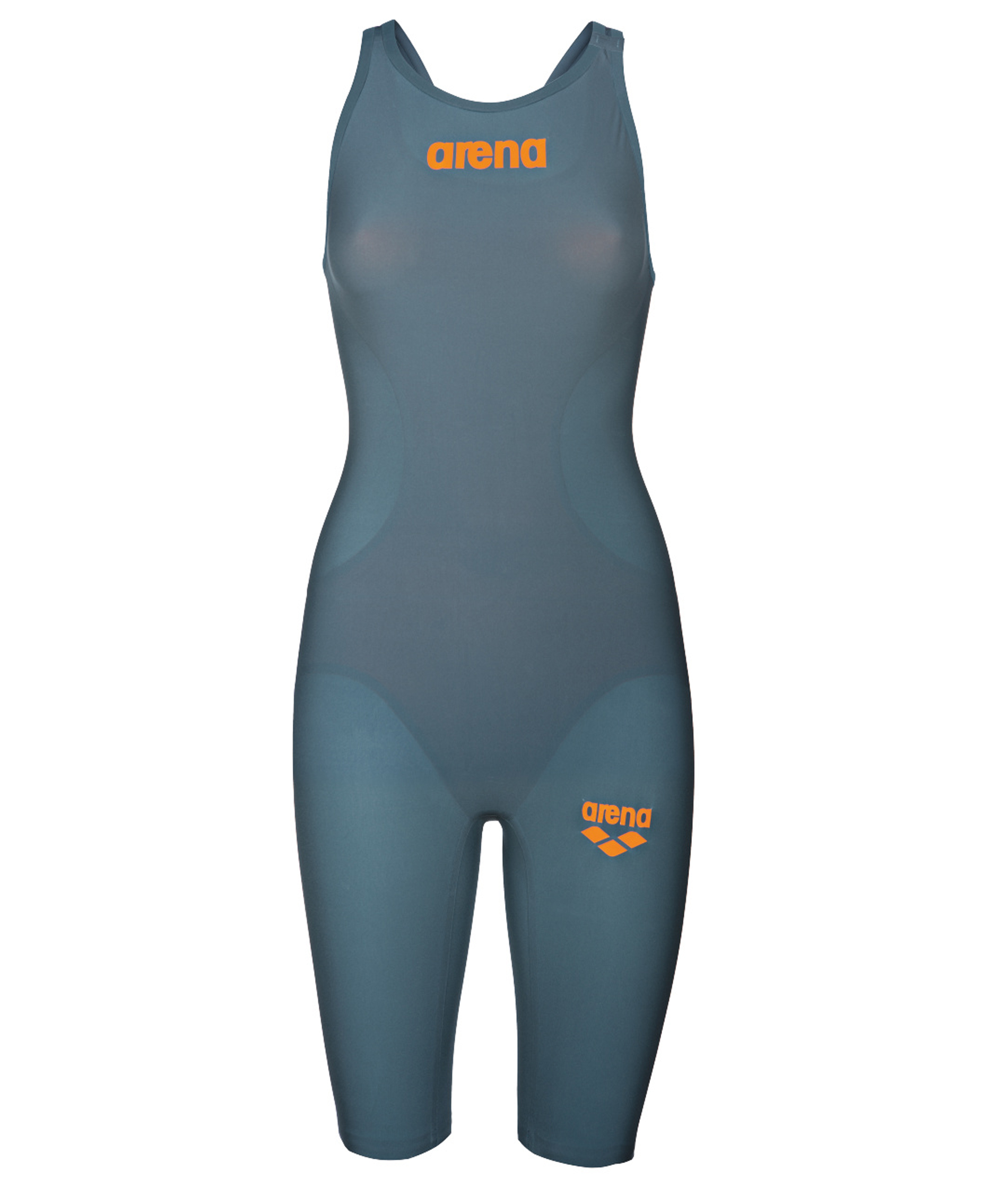 Arena Girls Powerskin R-EVO ONE Open Back Race Suit - Grey/Orange