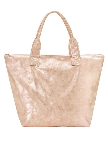 Seafolly Vegan Leather Shopper Tote - Peach Melba