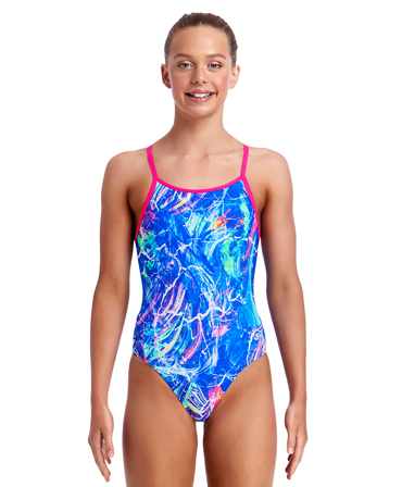 Funkita Girls Marble Moon Diamond Back One Piece