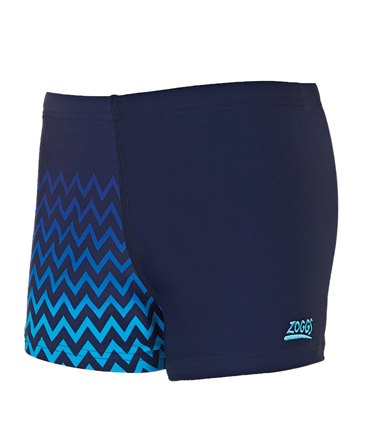 Zoggs Boys Chevron Hip Racer - Navy/Blue