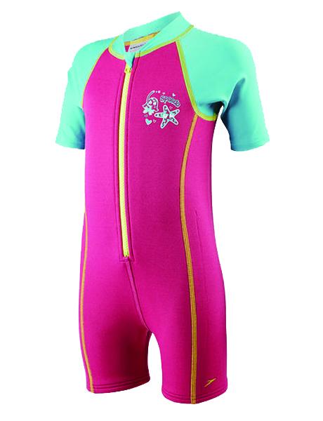 Speedo Seasquad Hot Tot Suit - Pink/Blue