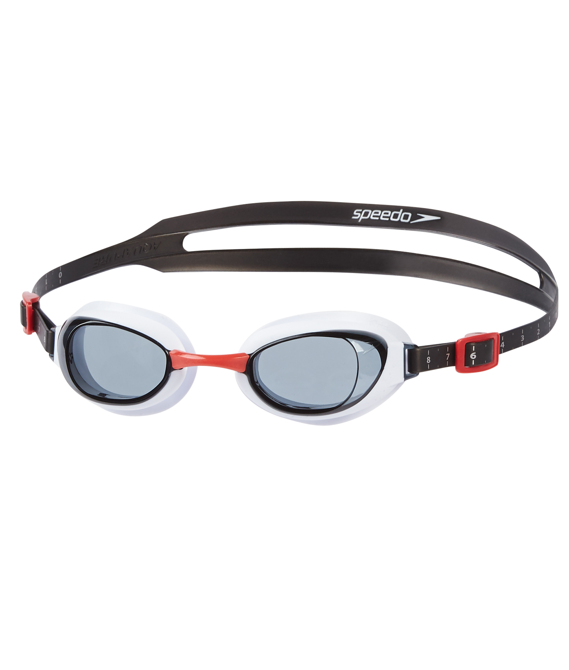 Speedo Aquapure Goggle - Red/White/Smoke