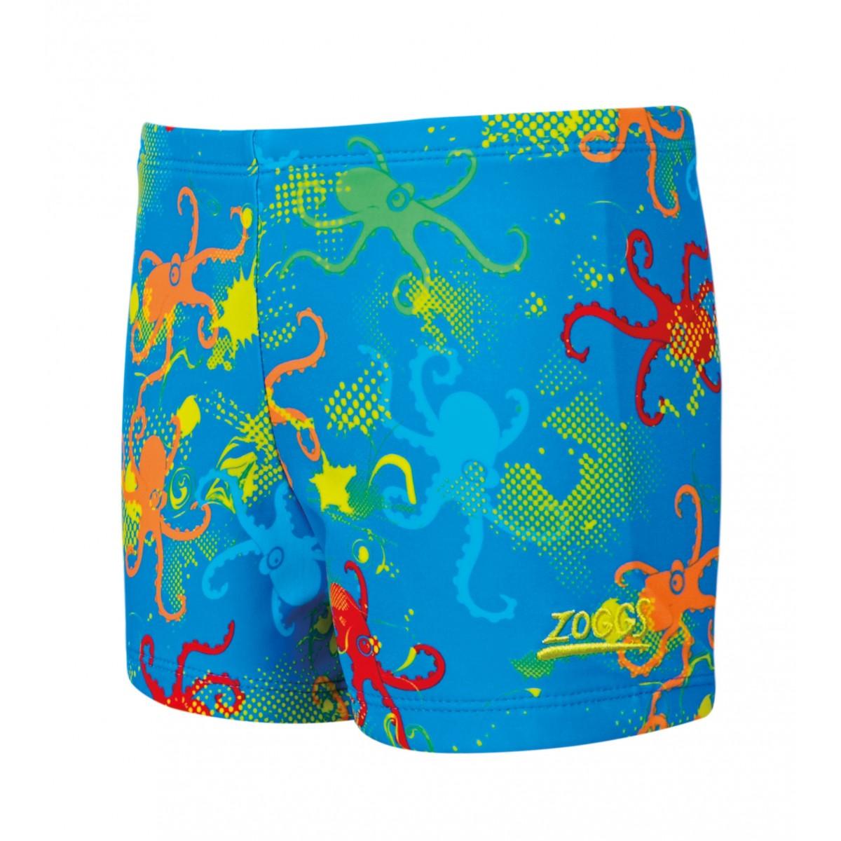 Zoggs Boys Octopus Fever Hip Racer - Blue