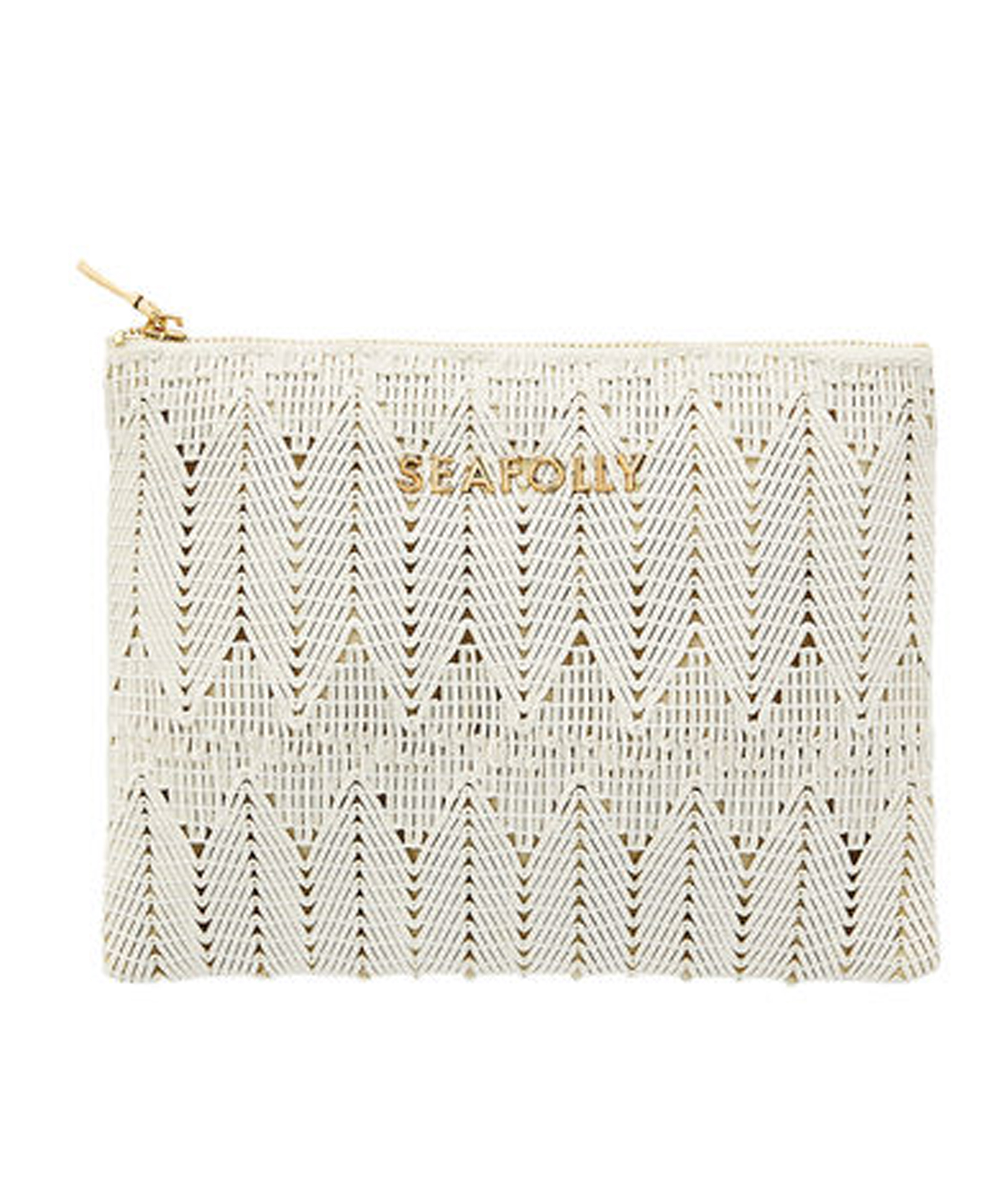 Seafolly Golden Clutch Bag - White
