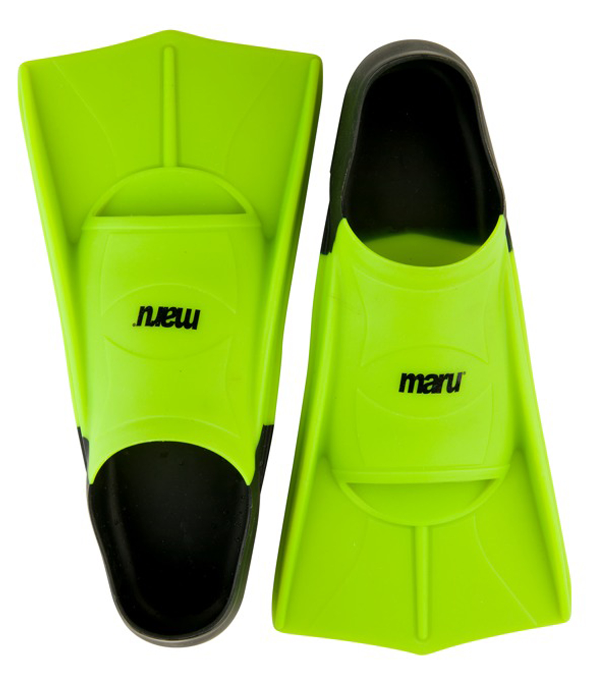 Maru Training Fins - Neon Lime/Black
