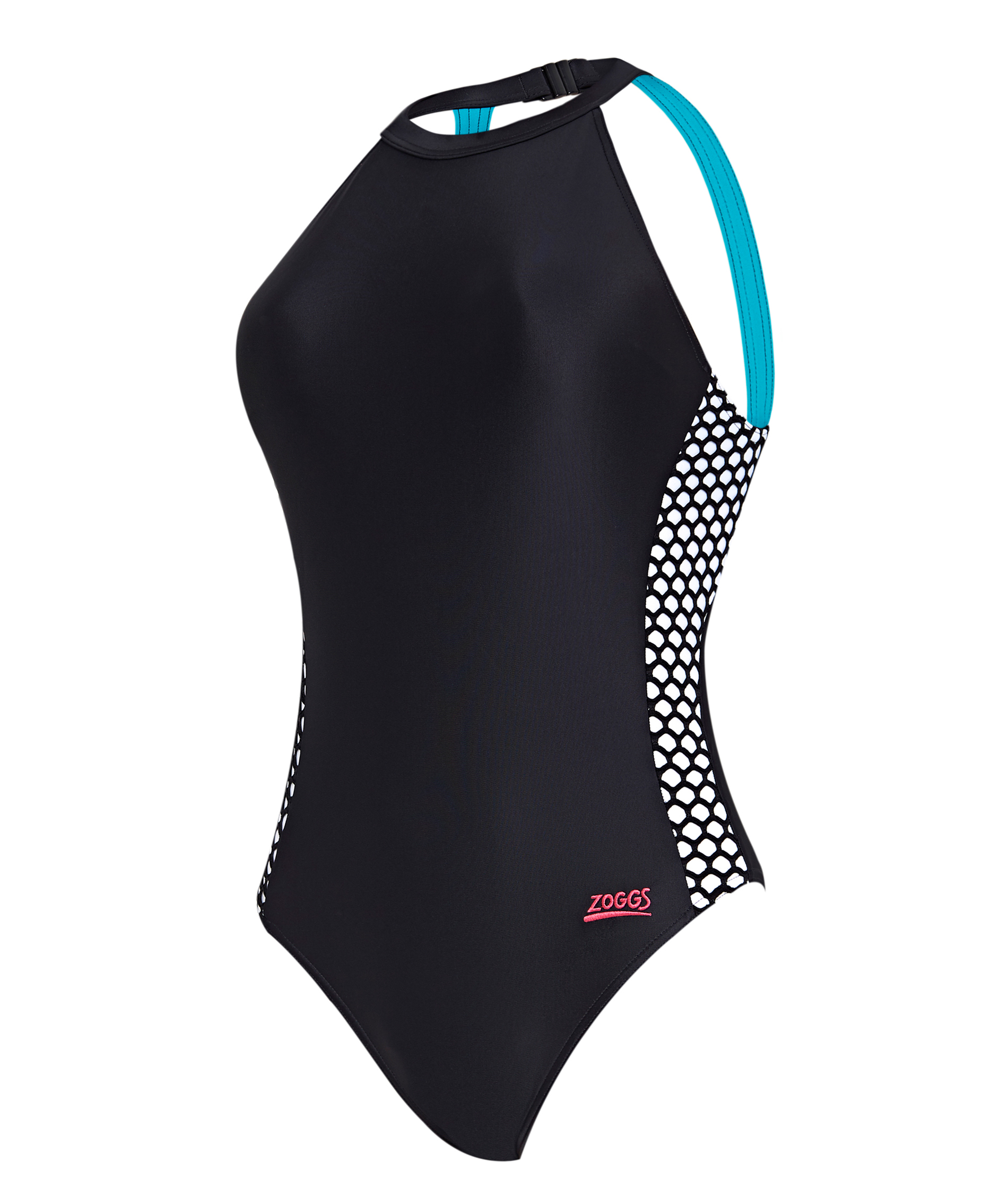 Zoggs Ladies Elevation Funnel Neck Swimsuit