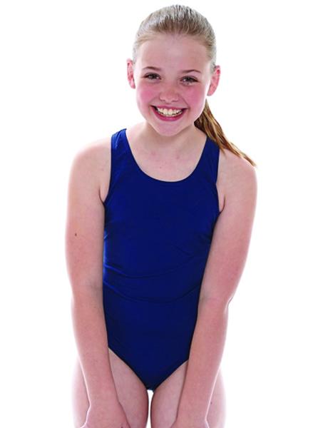 Zoggs Junior Girls Cottesloe Sportsback Navy Dolphin