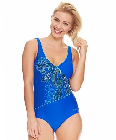 Zoggs Ladies Boho Jet Set Wrap Front Swimming Costume
