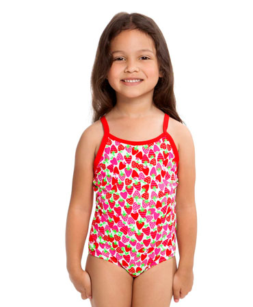 Funkita Toddler Girls Printed One Piece Strawberry Sundae