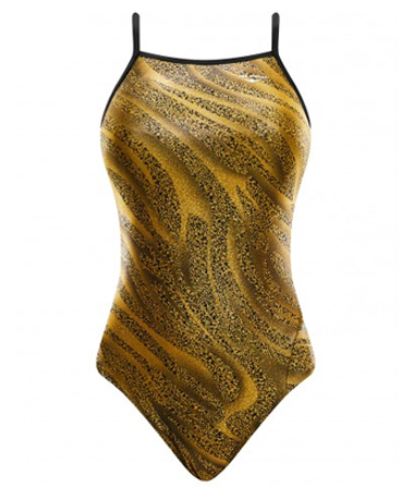 The Finals 'Funnies' Ladies Slither Foil Wing Back Swimsuit