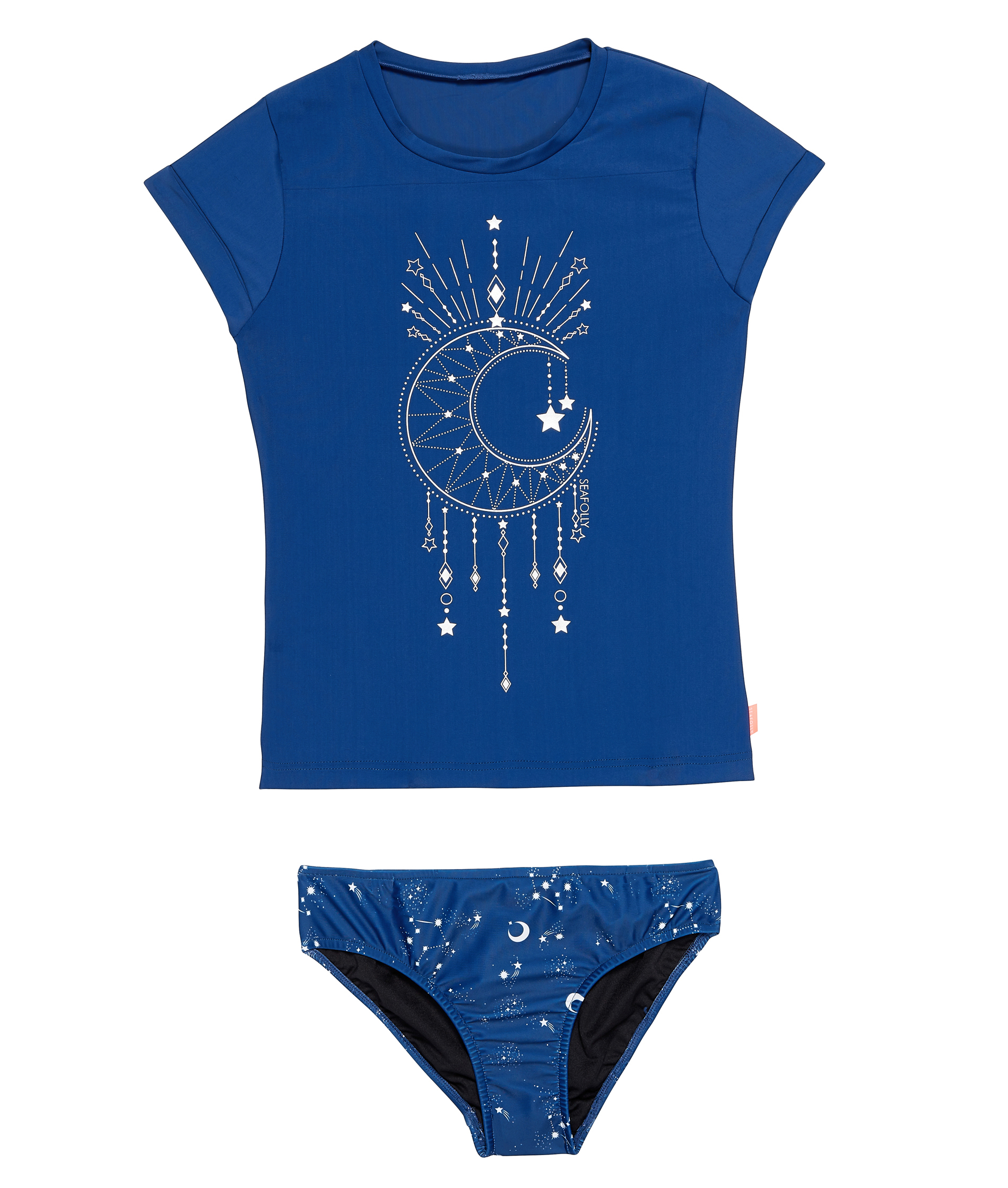 Seafolly Kids Luna Love Galaxy Blue Short Sleeve Surf Set