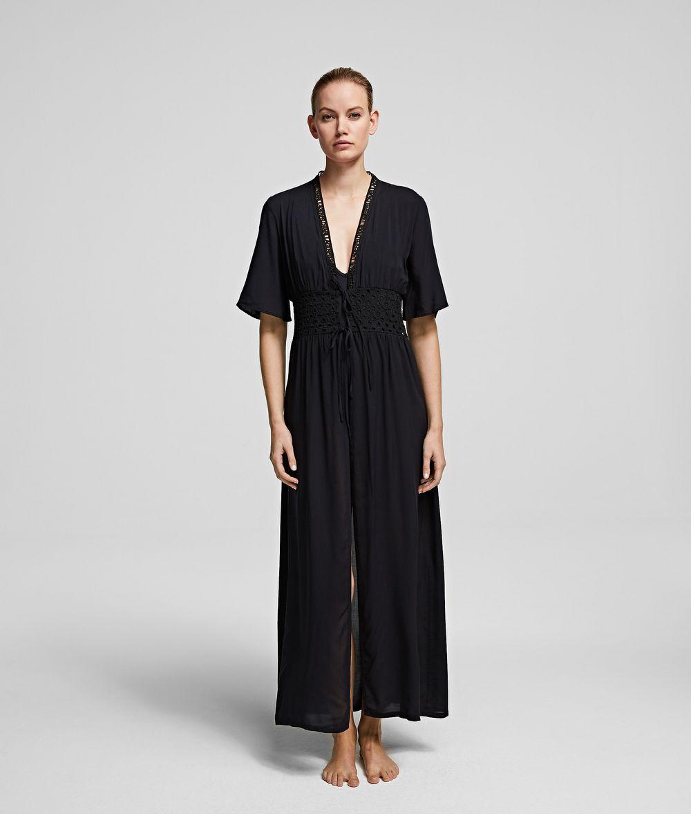 Karl Lagerfeld Sangallo Eyelet Long Dress