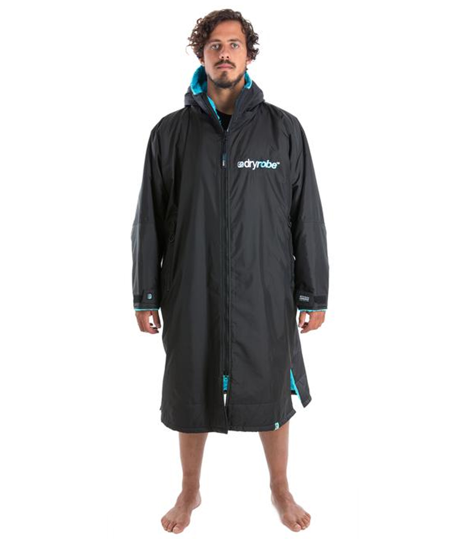 Dryrobe Advance Long Sleeve Black/Blue - Large
