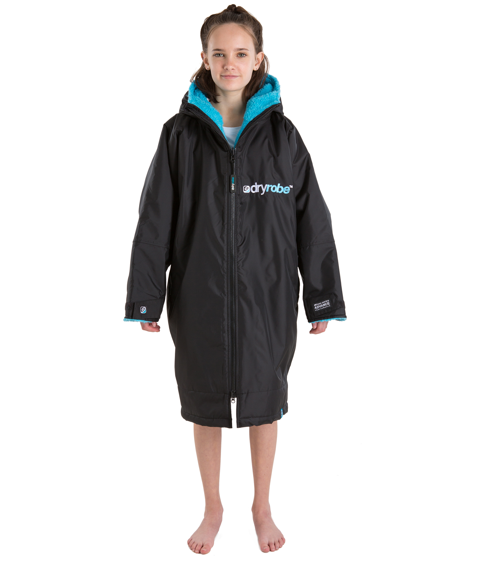 Dryrobe Advance Long Sleeve Black/Blue - Small