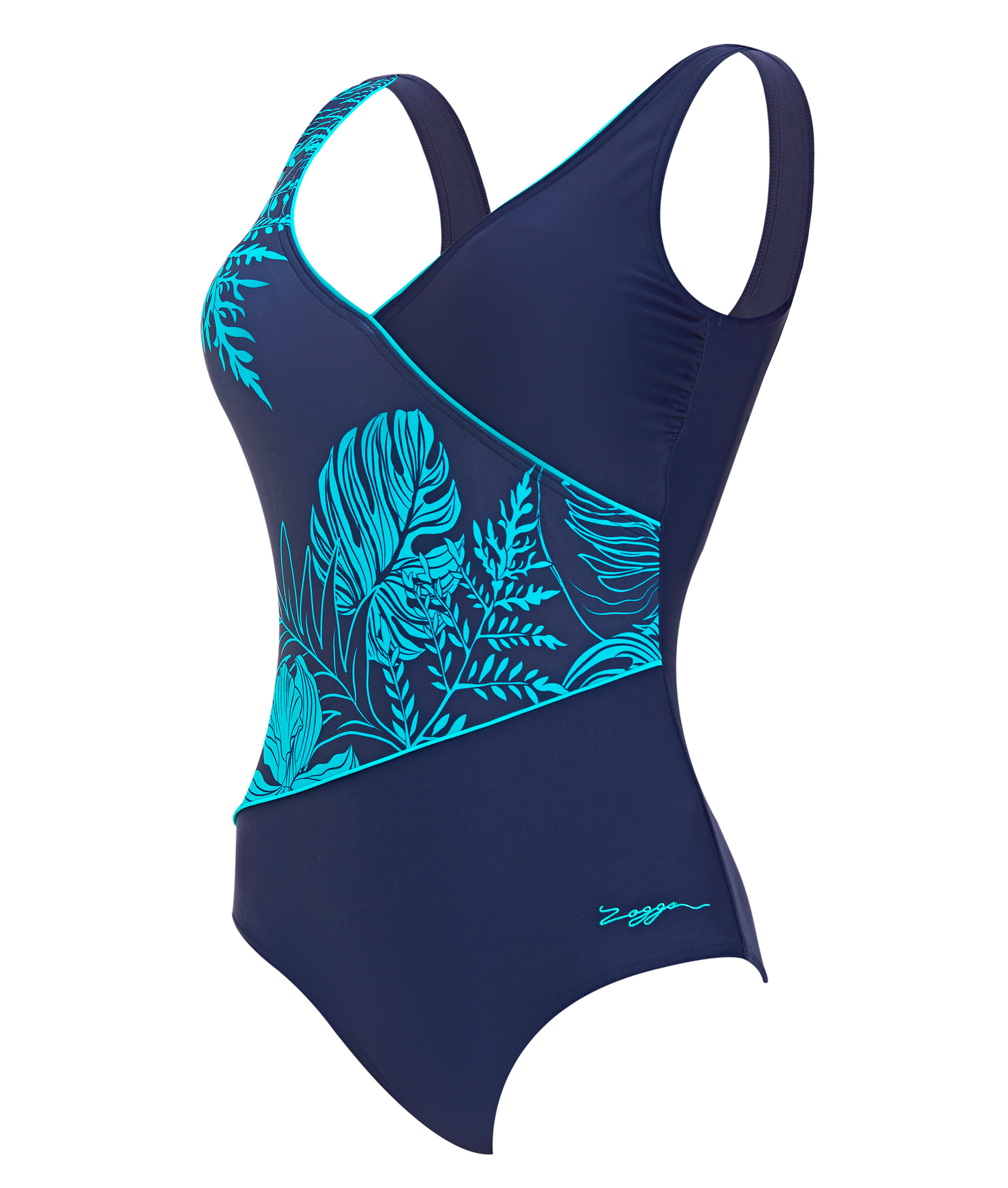 Zoggs Ladies Santorini Wrap Front Swimsuit