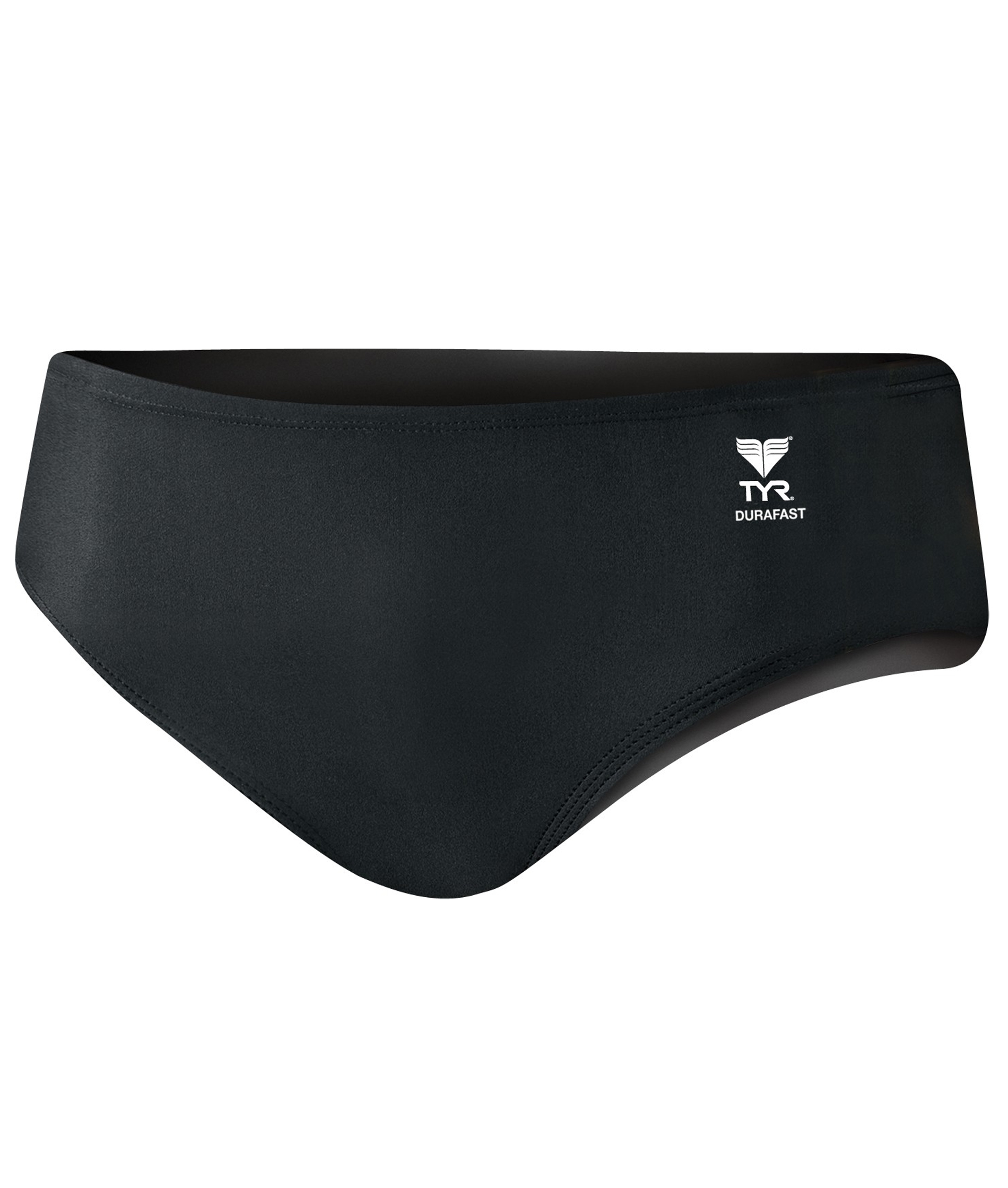 TYR Mens Durafast Elite Solid Racer Brief - Black