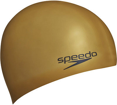 Speedo Moulded Gold Silicone Swim Cap