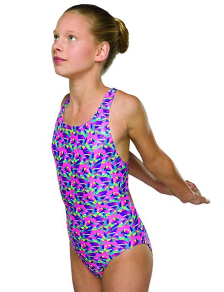 Maru Girls Hummingbird Sparkle Rave Back Swimsuit
