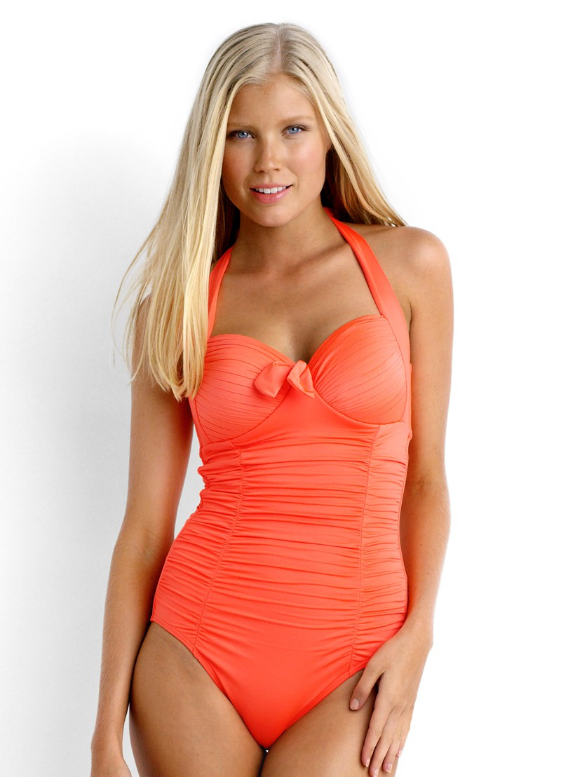 Seafolly Soft Cup Halter Maillot Nectarine