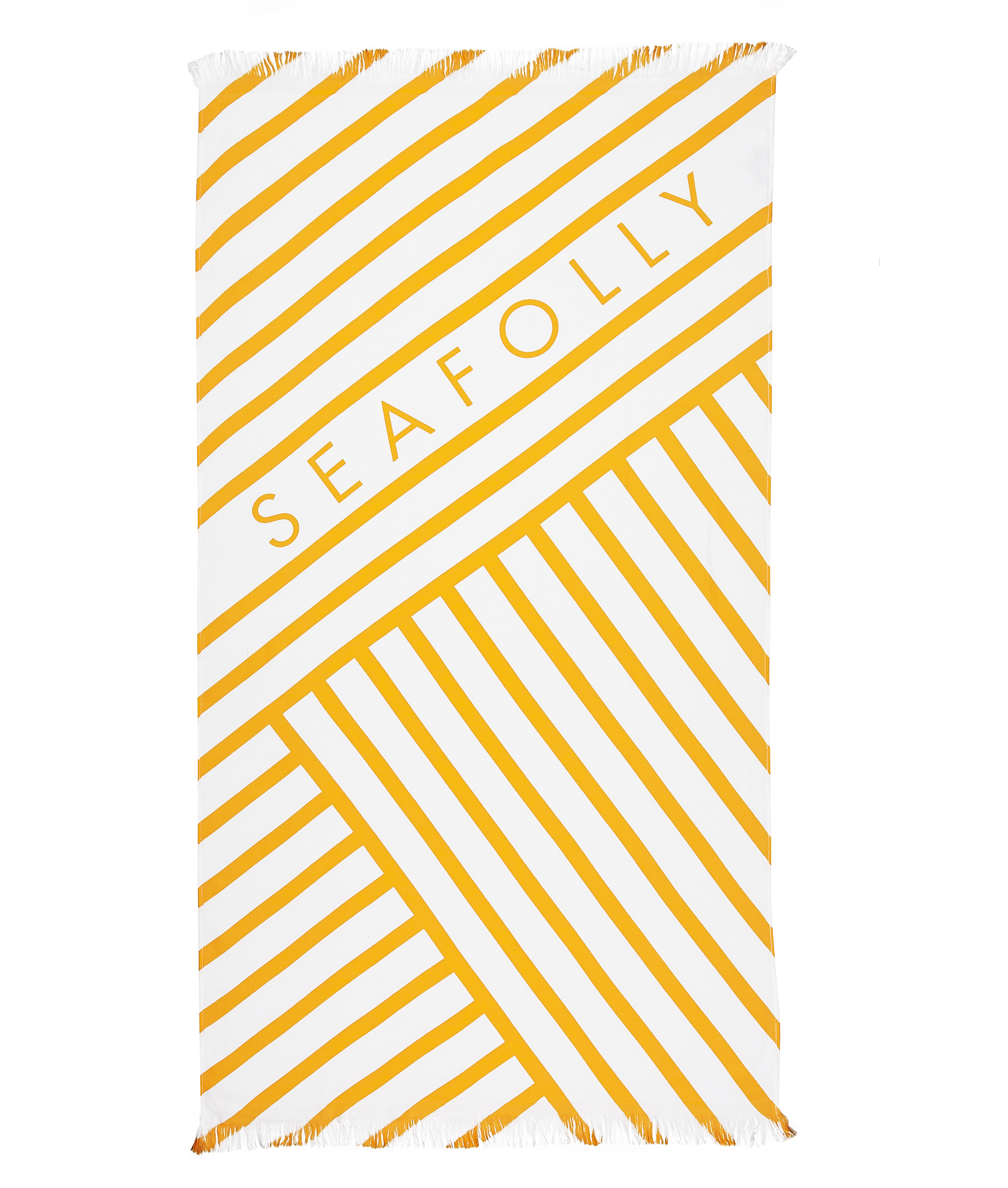 Seafolly Angled Stripe Beach Towel - Buttercup