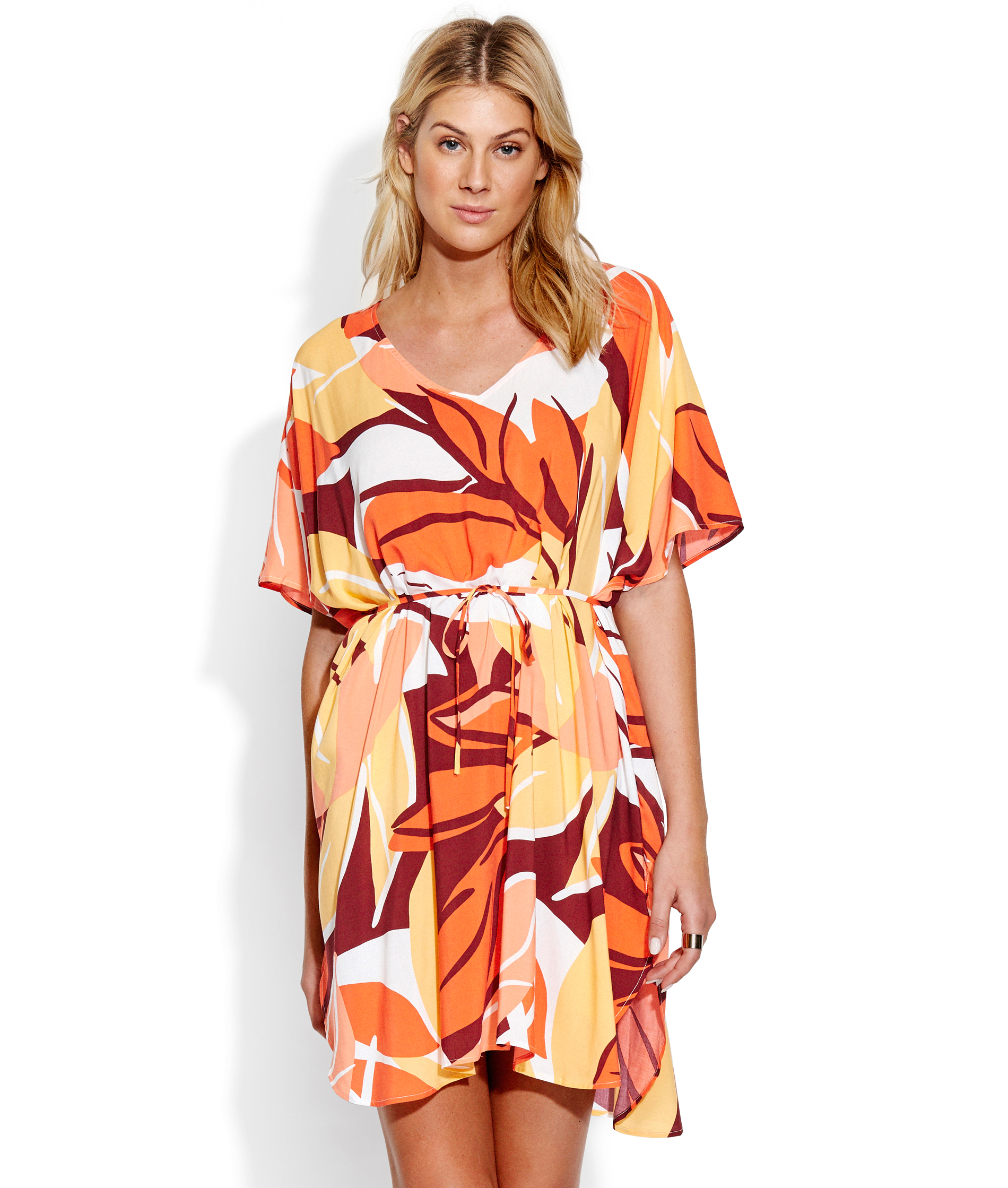 Seafolly Ladies Cut Copy Kaftan - Tangelo
