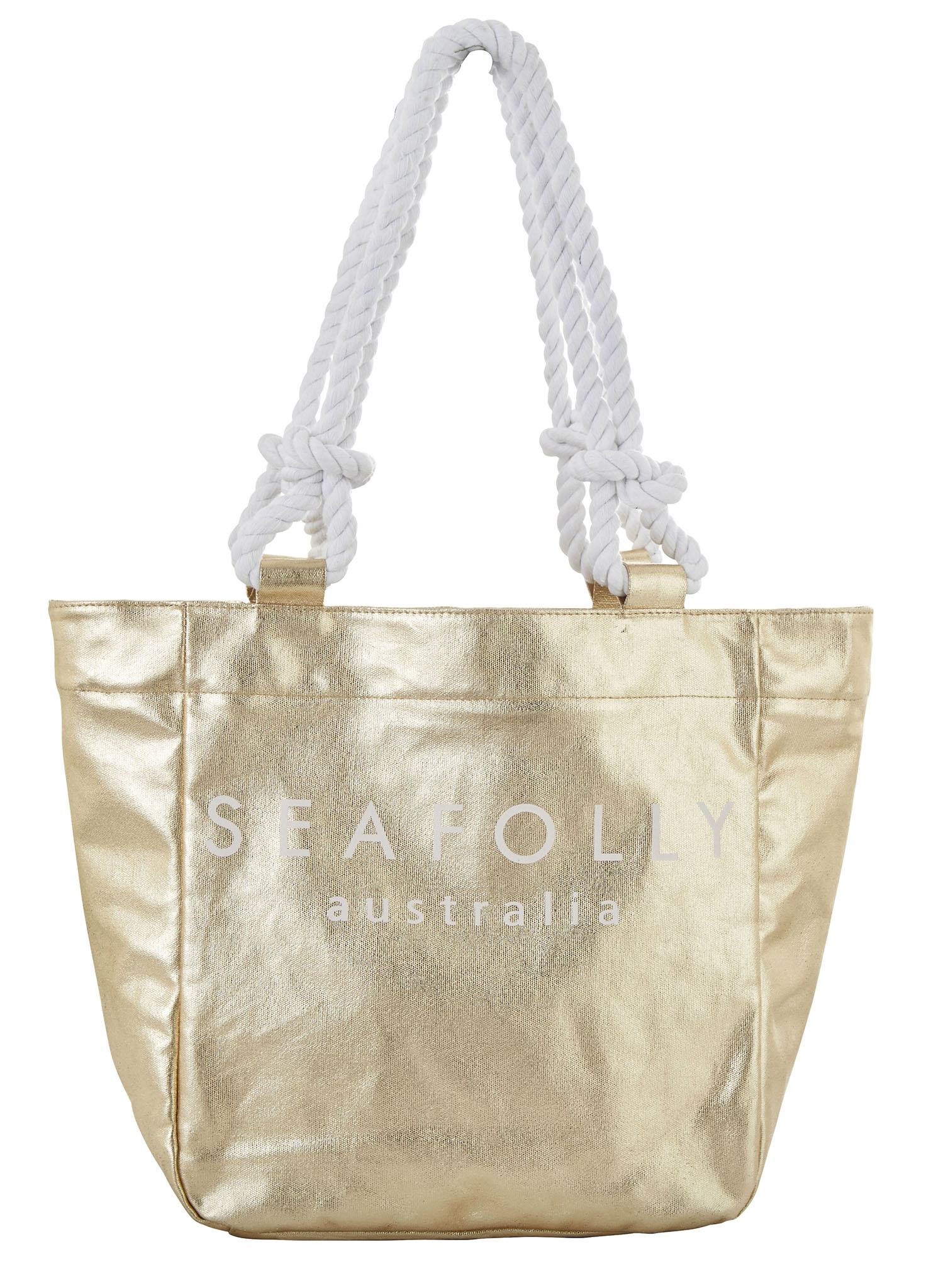 Seafolly Carried Away Canvas Rope Tote - Gold
