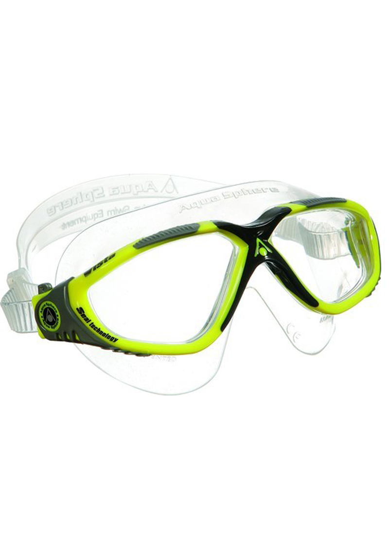 Aqua Sphere Vista Mask - Grey/Yellow