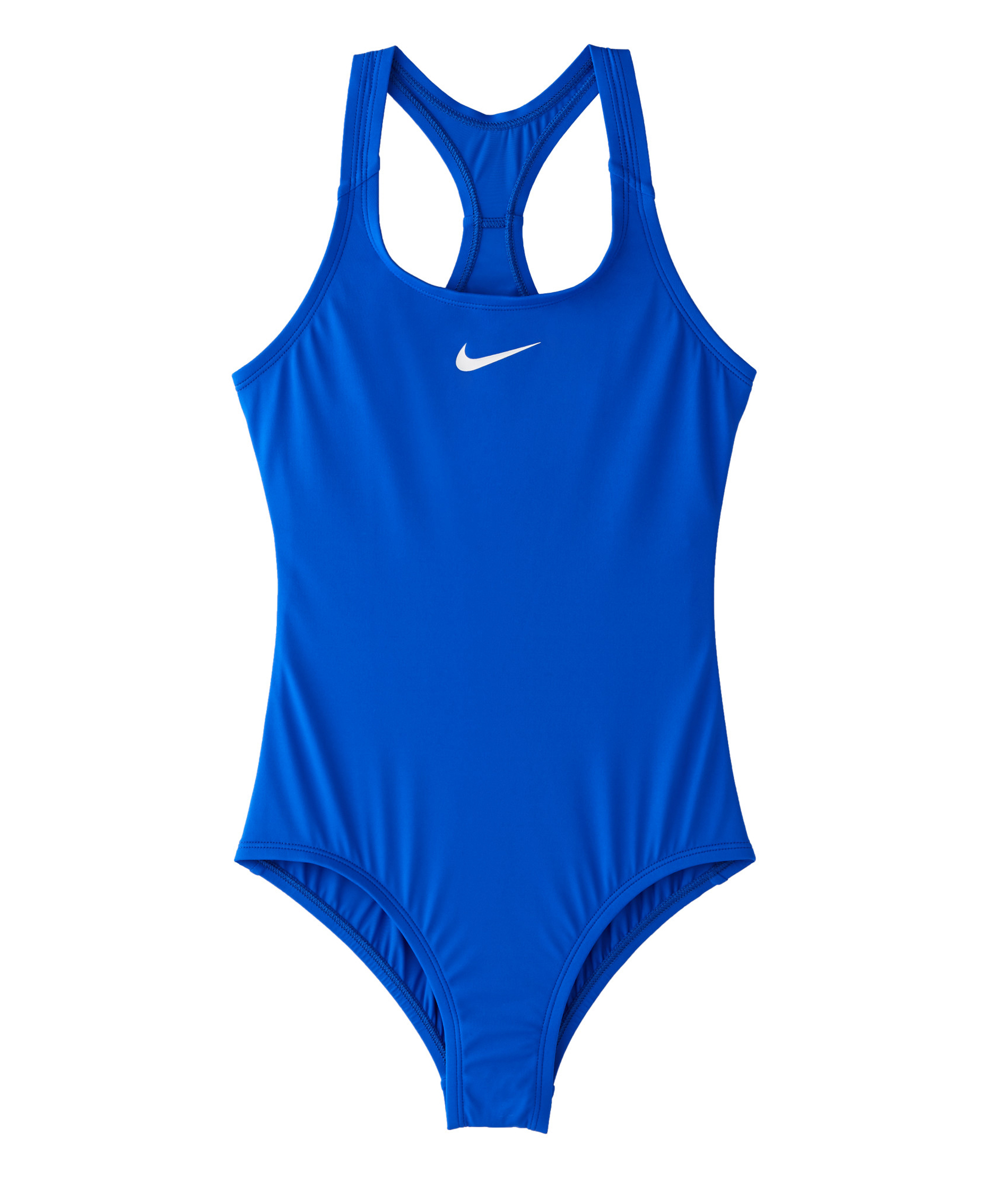 Nike Swim Girls Solid Racerback One-Piece - Racer Blue