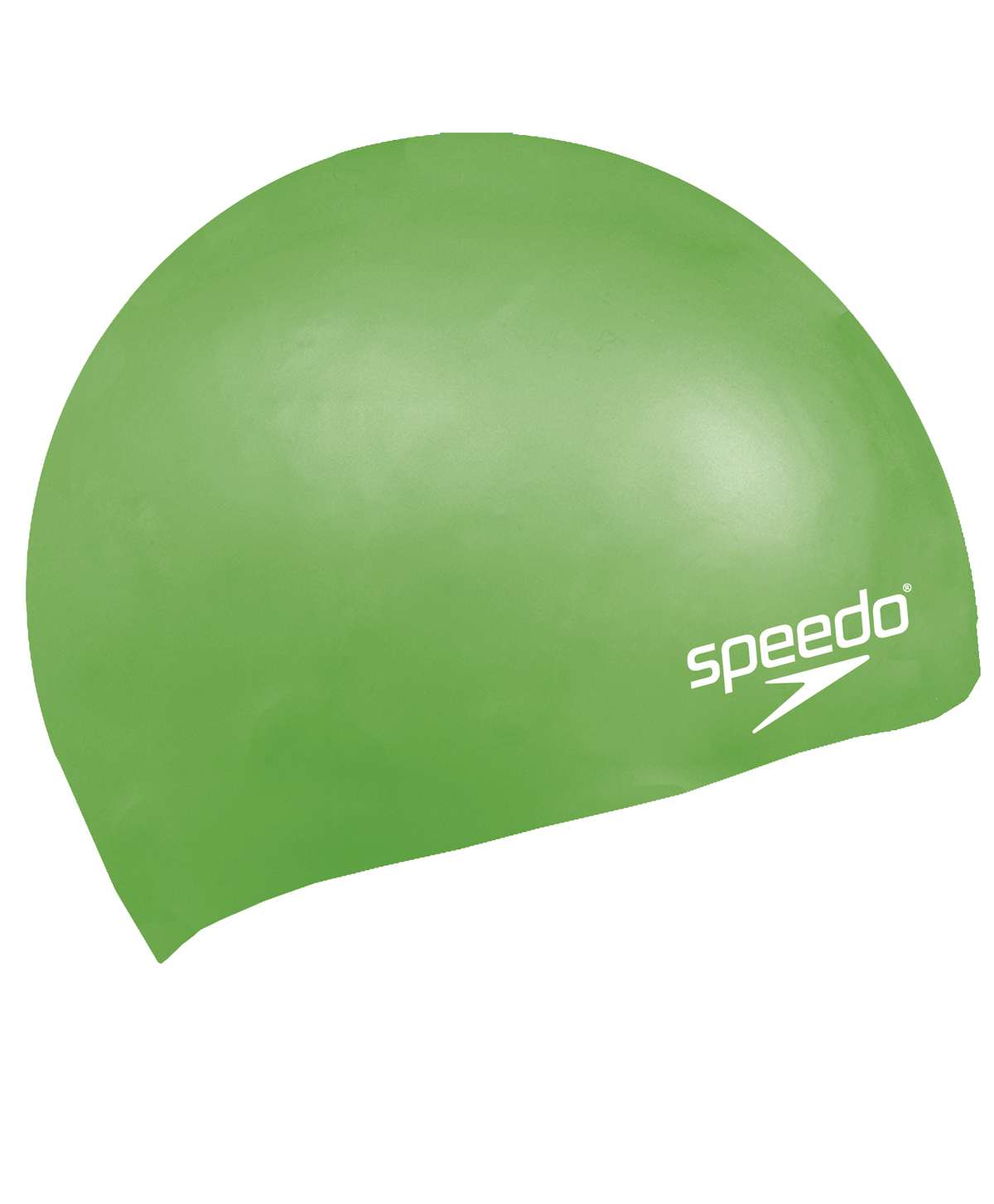 Speedo Junior Plain Moulded Silicone Swim Cap - Green